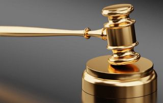 A judge's golden gavel used to rule on a nolo contendere plead to a speeding ticket charge in Metro Atlanta.